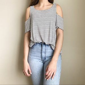 Garage cold shoulder top